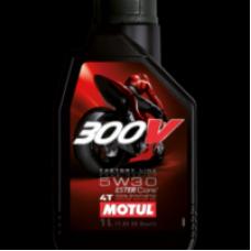 Моторное масло MOTUL 300V 4T FACTORY LINE ROAD RACING 5W30 (Синтетика, Эстеры)