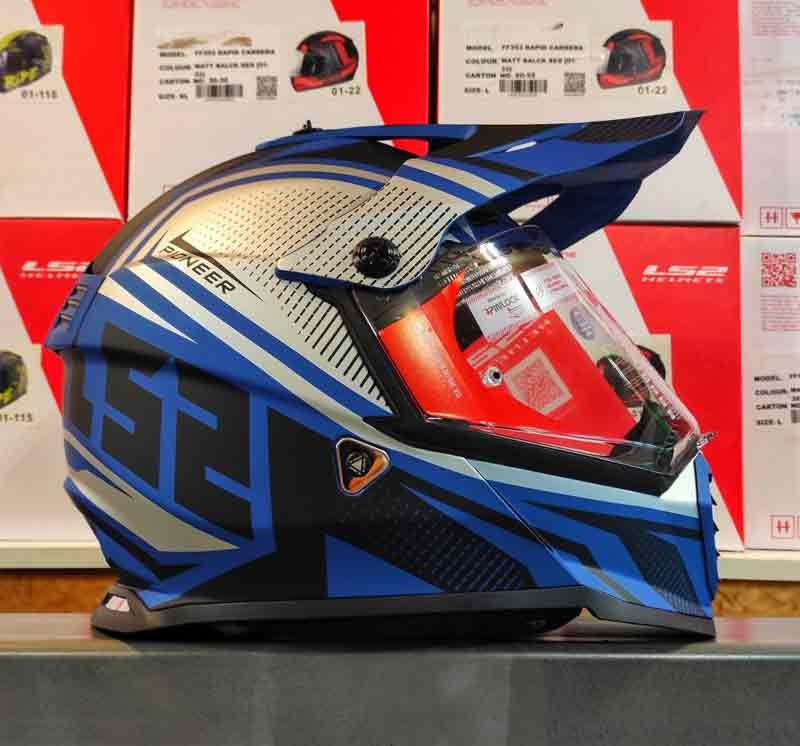 Мотошлем LS2 MX436 PIONEER EVO blue