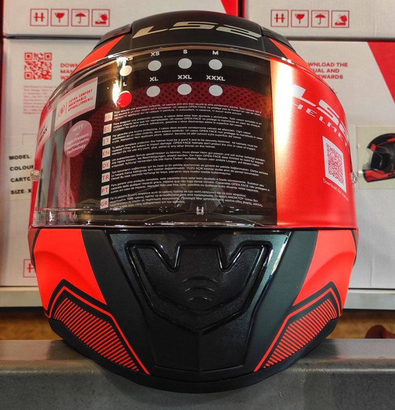 LS2 FF353 Rapid Carrera Matt Black Red